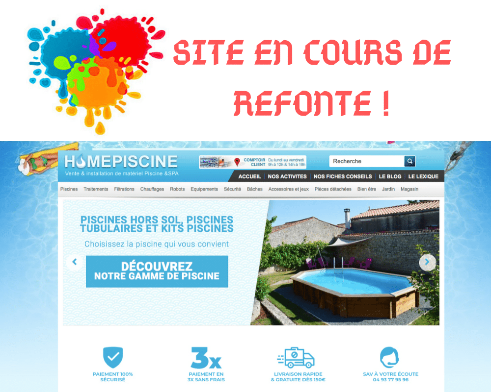 Lancement de la refonte du site web HomePiscine !
