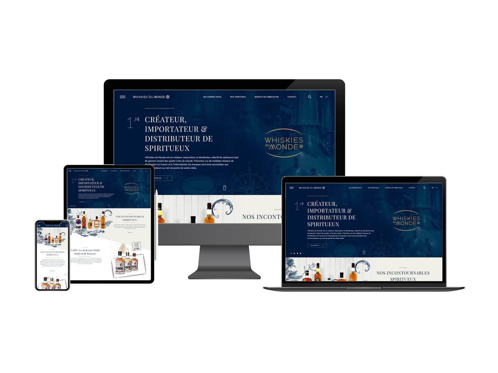 Site Internet Multi Supports Whiskiesdumonde.fr