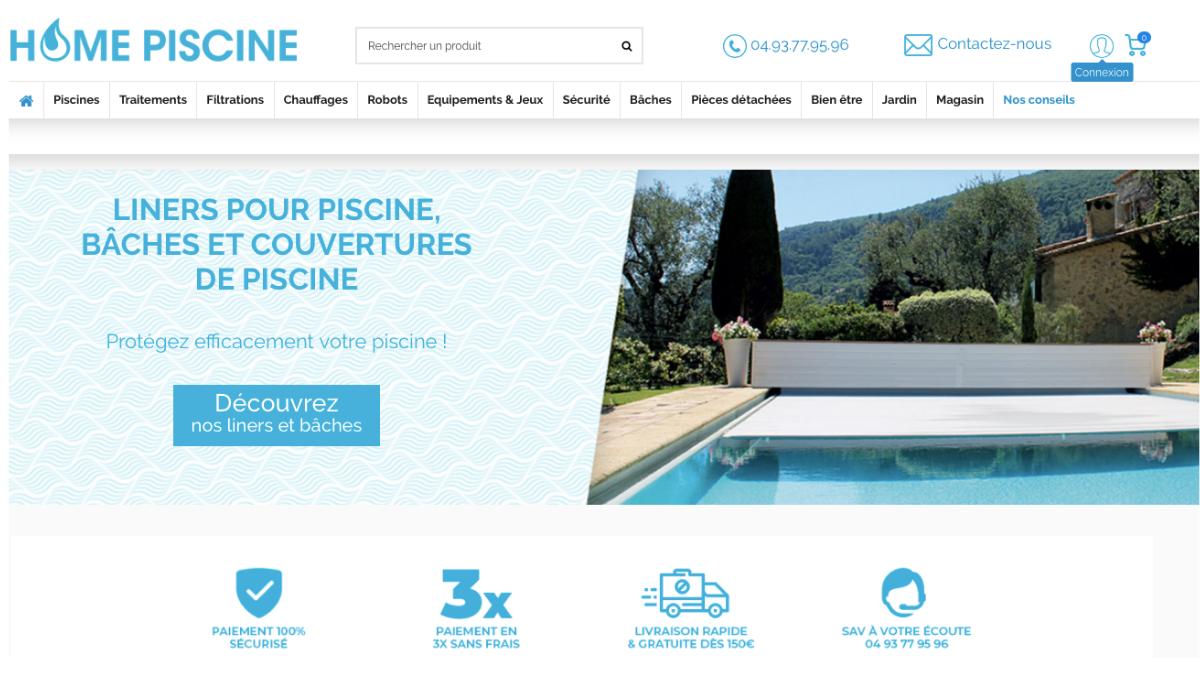 Mise en ligne du nouveau site Home Piscine