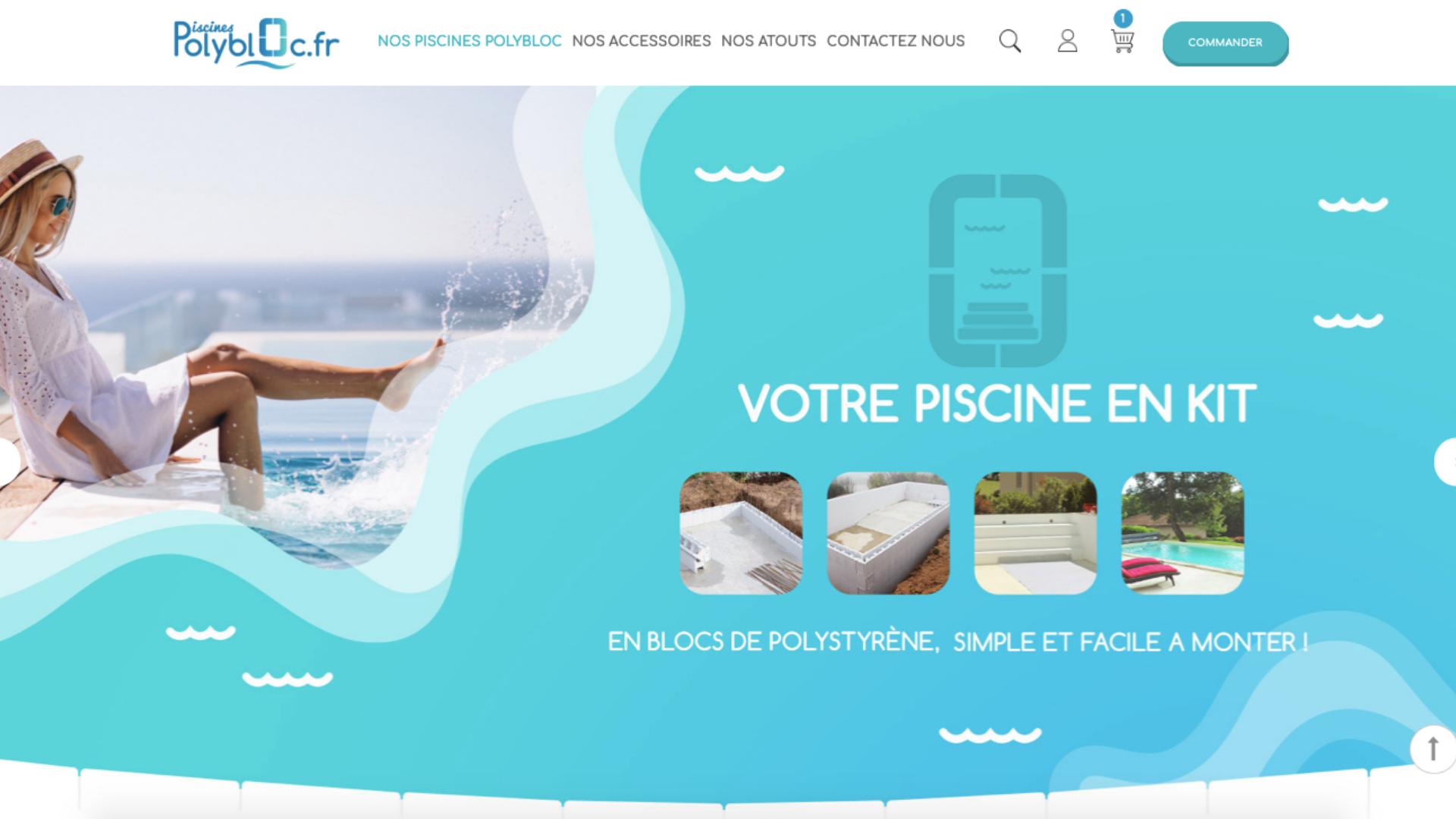 Réalisation du site web Piscines-Polybloc.fr