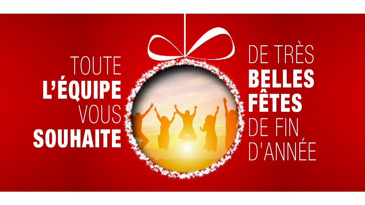 Toute l'équipe vous souhaite de très belles fêtes de fin d'année !